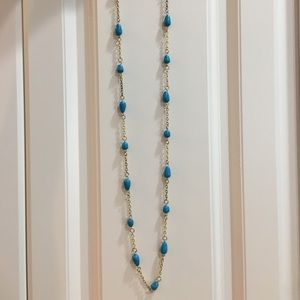 Lilly gold chain with blue marbled stones